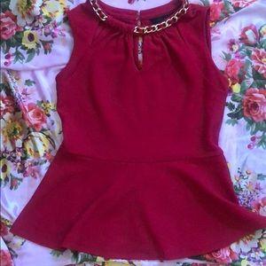 Like new dressy red Thalia Sodi top! Size small